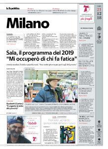 la Repubblica Milano - 21 Dicembre 2018
