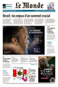 Le Monde du Jeudi 18 Octobre 2018