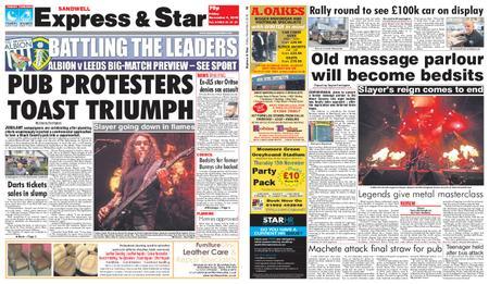 Express and Star Sandwell Edition – November 09, 2018
