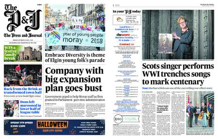 The Press and Journal Moray – October 22, 2018