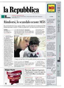 la Repubblica - 13 Febbraio 2018