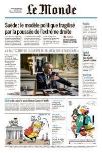 Le Monde du Mardi 11 Septembre 2018