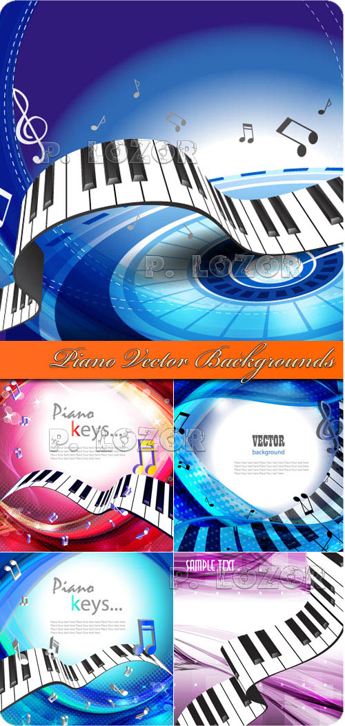 Piano Vector Backgrounds