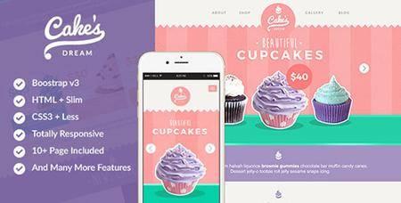 ThemeForest - Cake Dream v1.2 - Responsive Cake Shop Template - 11290285