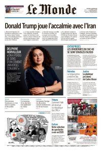 Le Monde du Vendredi 10 Janvier 2020