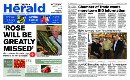 Whitchurch Herald – August 21, 2019