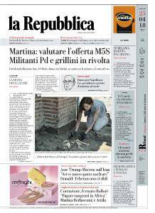 la Repubblica - 25 Aprile 2018