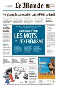 Le Monde du Jeudi 3 Octobre 2019