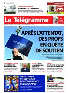 Le Télégramme Quimper – 20 octobre 2020