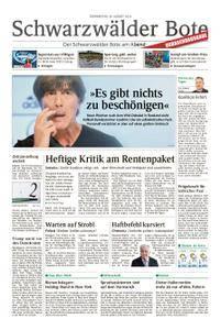 Schwarzwälder Bote Blumberg - 30. August 2018