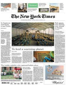 International New York Times - October 14, 2017