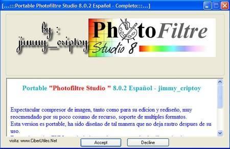 Portable Photofiltre Studio 8.0.2 Español - Completo