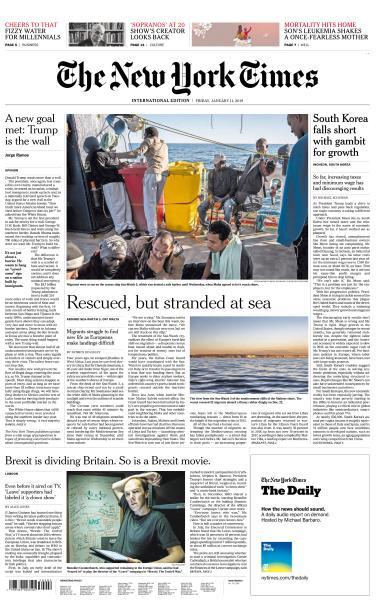 International New York Times - 11 January 2019