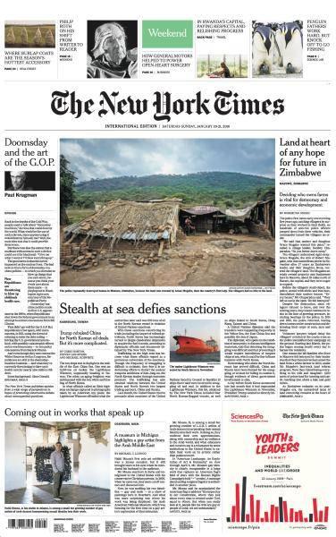 International New York Times - 20-21 January 2018