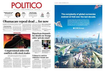 Politico – September 26, 2017