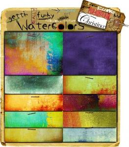 Christina Renee Designs: REALLY Funky Water Colors Paper Pack