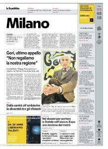 la Repubblica Milano - 3 Marzo 2018