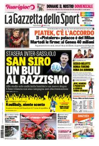 La Gazzetta dello Sport Roma – 19 gennaio 2019