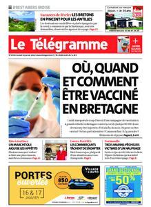 Le Télégramme Brest Abers Iroise – 16 janvier 2021