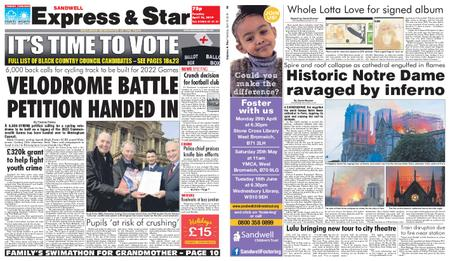 Express and Star Sandwell Edition – April 16, 2019