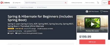 Udemy - Spring & Hibernate for Beginners (includes Spring Boot)