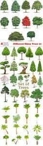 Vectors - Different Shiny Trees 21