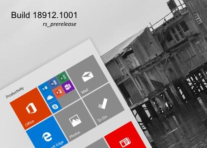 Windows 10 InsiderPreview (20H1) Build 18912.1001