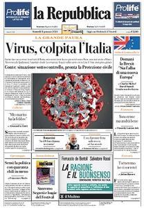 la Repubblica - 31 Gennaio 2020