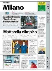 la Repubblica Milano - 13 Marzo 2019