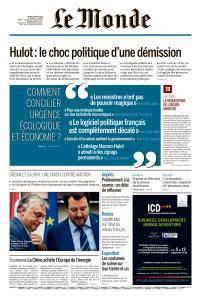 Le Monde du Jeudi 30 Août 2018