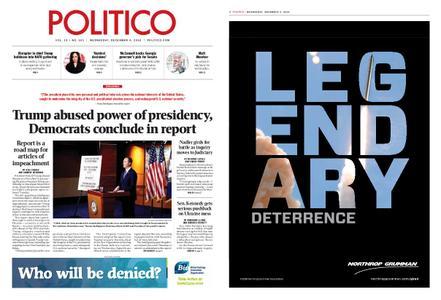 Politico – December 04, 2019