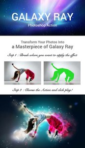 GraphicRiver Galaxy Ray Photoshop Action