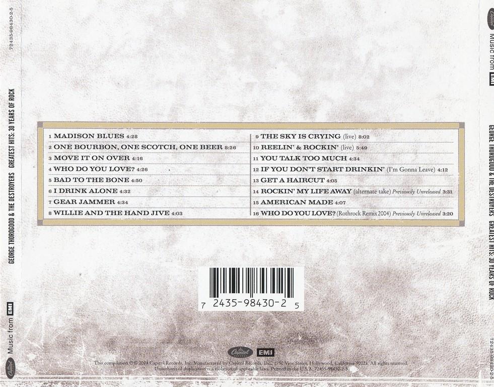 george thorogood greatest hits full album