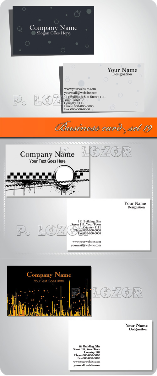 Business card set 19