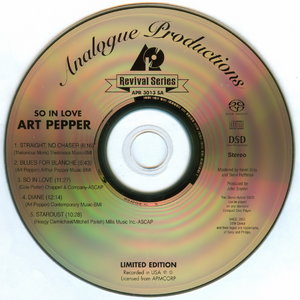 Art Pepper - So In Love (1979) [Analogue Productions Remastered 2004]