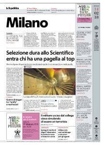 la Repubblica Milano - 14 Febbraio 2018