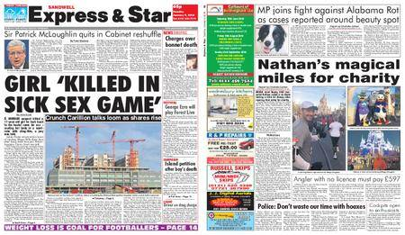 Express and Star Sandwell Edition – January 09, 2018