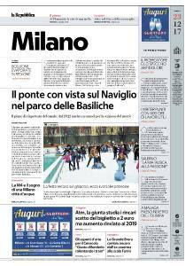 la Repubblica Milano - 23 Dicembre 2017