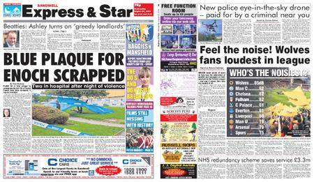 Express and Star Sandwell Edition – August 29, 2018