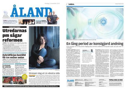 Ålandstidningen – 13 november 2019