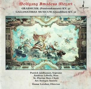 Ars Antiqua Austria, Gunar Letzbor - Mozart: Grabmusik, Gallimathias Musicum (1998)