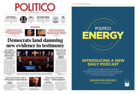 Politico – November 14, 2019