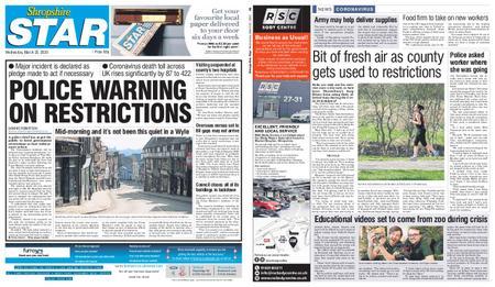 Shropshire Star Shrewsbury Edition – March 25, 2020
