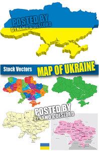 Ukraine map - Stock Vectors
