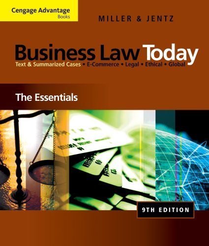 Business Law Today: The Essentials (repost)
