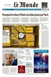 Le Monde du Dimanche 19 et Lundi 20 Novembre 2017