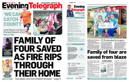 Evening Telegraph First Edition – February 26, 2019
