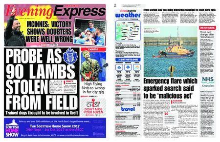 Evening Express – September 25, 2017