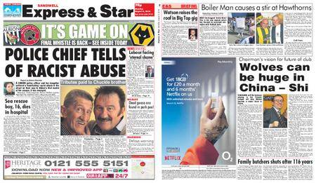Express and Star Sandwell Edition – August 06, 2018