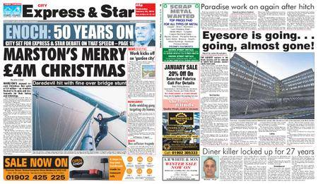 Express and Star City Edition – January 24, 2018